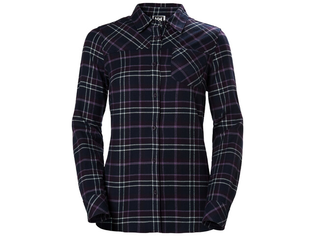Helly Hansen Classic Check T-shirt à manches longues Femme, nightshade plaid